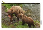 Grizzly Dinner For Two Carry-all Pouch