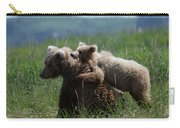 Grizzly  Mother And A Cub In Katmai National Park Carry-all Pouch