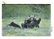 Grizzly Romp - Grand Teton Carry-all Pouch by Sandra Bronstein