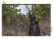 Grizzly Shaking A Tree Carry-all Pouch