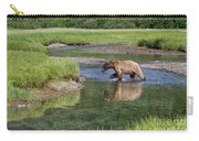 Grizzy Bear Crossing The River Carry-all Pouch