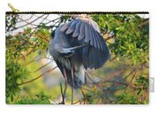 Grooming Blue Heron Carry-all Pouch