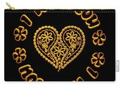 Groovy Golden Heart And I Love You Carry-all Pouch
