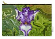 Groovy Purple Iris Carry-all Pouch by Rebecca Margraf