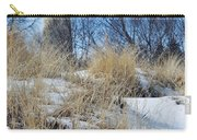 Grosse Point Lighthouse Winter Dunes Carry-all Pouch