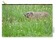 Groundhog In A Field Of Flowers Carry-all Pouch