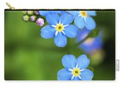 Group Of Blue Flowers Forget-me-not Carry-all Pouch