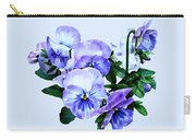 Group Of Purple Pansies And Leaves Carry-all Pouch