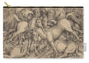 Group Of Seven Horses In Woods Carry-all Pouch
