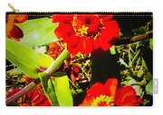 Group Of Small Red Zinnia's Carry-all Pouch