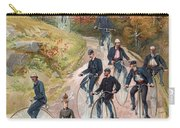 Group Riding Penny Farthing Bicycles Carry-all Pouch