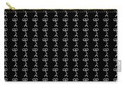 Grumpy Face Black Pattern Carry-all Pouch