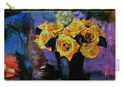 Grunge Friendship Rose Bouquet With Candle By Lisa Kaiser Carry-all Pouch