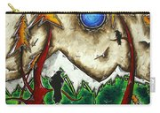 Guardians Of The Wild Original Madart Painting Carry-all Pouch