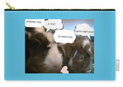 Guinea Pig Love And Bday Wishes Carry-all Pouch