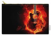 Guitar On Fire Carry-all Pouch