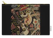 Guitar Playing Skeleton 3 Carry-all Pouch
