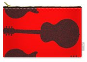 Guitar Silhouette Background Carry-all Pouch
