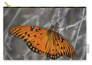 Gulf Fritillary Butterfly In The Brambles Carry-all Pouch