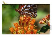 Gulf Fritillary On Butterflyweed Carry-all Pouch