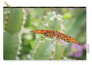 Gulf Fritillary On Cactus  Carry-all Pouch