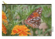 Gulf Fritillary On Marigold Carry-all Pouch