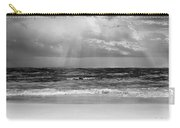 Gulf Of Mexico In Black And White Carry-all Pouch