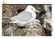 Gull Adult And Chick On Cliff Carry-all Pouch
