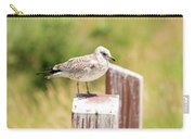 Gull On A Post Carry-all Pouch