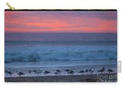 Gulls With Pink Sky Carry-all Pouch