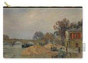 Gustave Loiseau 1865 - 1935 Marie Bridge In Paris Carry-all Pouch