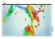 Gymnast Watercolor Paint Splatter Carry-all Pouch