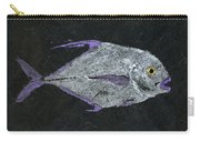 Gyotaku African Pompano Carry-all Pouch by Captain Warren Sellers