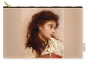 Gypsy Girl Carry-all Pouch by George Elgar Hicks