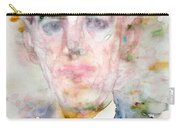 H. P. Lovecraft - Watercolor Portrait.3 Carry-all Pouch
