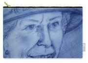 H R H Queen Elizabeth I I Royal Blue Carry-all Pouch