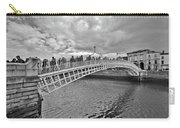 Ha' Penny Bridge In Black And White Carry-all Pouch