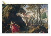 Hagar And Ishmael In The Wilderness Carry-all Pouch