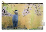 Haiku, Heron And Cherry Blossoms Carry-all Pouch