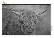 Hairy Highlander Bw Carry-all Pouch