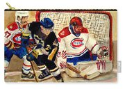 Halak Catches The Puck Stanley Cup Playoffs 2010 Carry-all Pouch