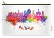 Halifax V2 Skyline In Watercolor Splatters With Clipping Path Carry-all Pouch
