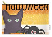 Halloween Friends- Art By Linda Woods Carry-all Pouch by Linda Woods