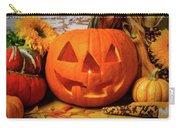 Halloween Pumpkin Smiling Carry-all Pouch