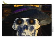 Halloween Skull With Hat Carry-all Pouch