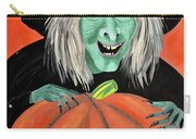 Halloween Witch And Pumpkin Art Carry-all Pouch