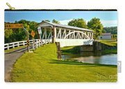 Halls Mill Covered Bridge Landscape Carry-all Pouch