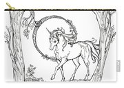 Haloed Unicorn In The Woods Carry-all Pouch