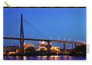 Hamburg - Koehlbrand Bridge In The Evening Carry-all Pouch