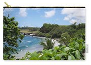 Hamoa Beach Tropical Hana Maui Hawaii Waves And Surfers Carry-all Pouch